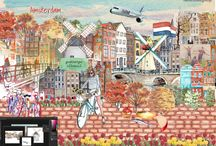 DREAMsterdam Art Gallery / Amsterdam, when the world dreams of you, this is what they imagine. / by Qatar Airways