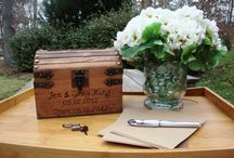 Wedding Guest Books / A great way to offer advice and thank yous to the couple so they can look back in years to come.
