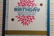 Sale a bration  and spring seasonal 2014 Stampin up / Examples of project using products from SAB or spring catalogue
