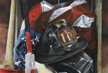 Fire Department art / Airbrush on acrylic- John Kiernan of Blue Line Studios. Warrenton VA and Southampton NY