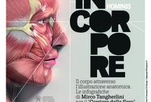 InCorpore / INCORPORE HOMINIS è una mostra itinerante sulle più belle illustrazione scientifiche realizzate per il Corriere della Sera da Mirco Tangherlini