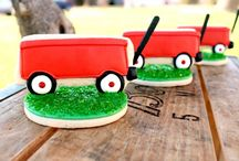 Alex's First Birthday / Crafts, Decorating, Food ideas for my Sons frist Birthday Party / by Val Messier