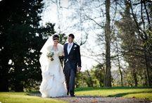 Winter Wedding, looking beautiful in an Ian Stuart dress