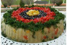 patates salatası yuvarlak şekilli