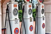 Gas Pumps / Gotta love old gas pumps.