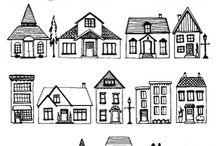 Házak, épületek