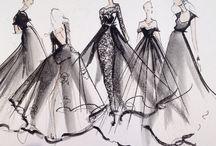 Bocetos de vestido