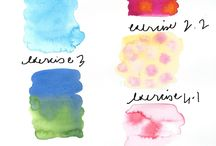 Watercolor / Watercolor techniques, tutorials, supplies