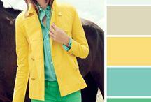 Moda ropa amarilla y verde