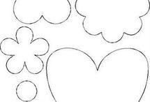 moldes de flores y corazones