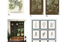 Ogród botaniczny na Twojej ścianie / Liście, krzewy i tropikalne rośliny w zachwycających kompozycjach na obrazach i obrazkach