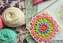 Crochet squares / Cuadrados de crochet