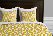 Mustard Yellow Bedding / Budget-wise Mustard-colored comforters and bedding sets.