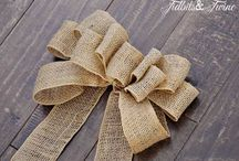 Burlap bow / by Teresa Patterson