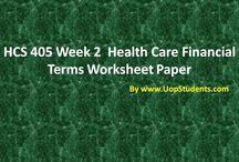 HCS 405 Final Exam