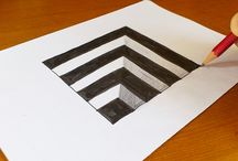 Optische illusie school