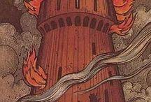 The Tower - Tarot Cards