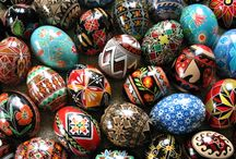Pysanky Eggs / Ukrainian painted eggs and painted eggs from over the world