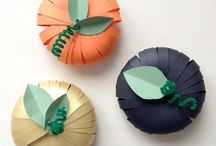 Paper crafts / Different crafts to try for decorating the house, events, Halloween, Christmas etc, or for the kids to try