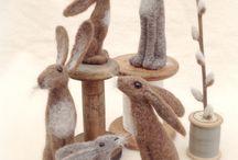conigli lana cardata
