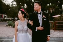 Eunice and Kevin - 8/6/17 / Vendor Credits: Photography - @christineflowerphotography Venue - @franciscangardens Catering - @24carrotscatering Coordination - @cherie.weddings Florals - @leavesandlilacs Videography - @nestweddings Hair - @bridalhairbyhare Makeup - @phamousbeauty Lasercut Details - @happilyeveretched