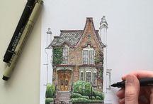 Desene - În tuş şi creion