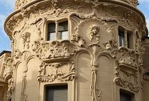 Art Nouveau inspiration / products and architecture which inspire us to create Art Nouveau style custom door hardware