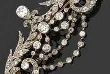 Spille Diamanti Art Nouveau e Decò