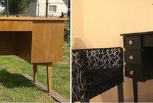 DIY, HOme decor / furniture painting , desk, lace, home decor