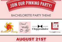 """Pinning Party: Bachelorette Bash! / Join Chippendales®, French Wedding Style, The Light Group, and Sunkissed Tanning for a """"Bachelorette Bash"""" Pinning Party on August 21st at 6pm PT! Hosts will be sharing Bachelorette Party decoration inspiration, fashion, recipes, and more!"""