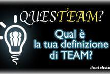 """Questeam / """"Questeam"""" è uno spazio in cui vengono poste domande su tematiche quali #team, #startup, #management ecc…  Seguiteci su www.catchstaff.com"""