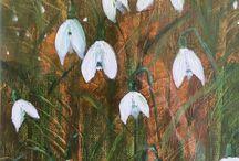 Sneeuwklokjes acryl schilderen