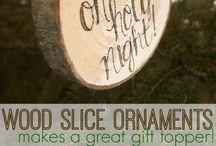 Handmade gift idea winter rustic tag