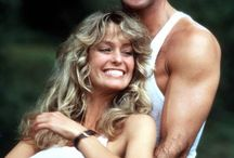 Farrah Fawcett and Burt Raynolds