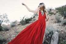 red dress shoot
