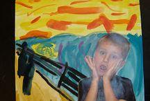 3.-4. -luokan kuvis:  taiteilijoiden jalanjäljillä