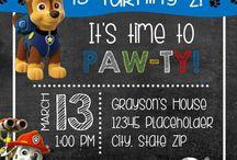 Paw patrol invite