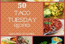 Taco Tuesday / It really helps you meal plan to have themed days of the week...we like Taco Tuesday the best. These recipes will be your go to for Tuesday's menu!