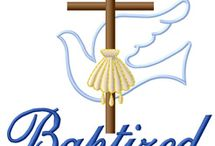 Baptism embroidery designs