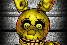 Springtrap and plushtrap / This is a board is for my favourite fnaf characters springtrap and plushtrap