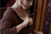 Jane Austen knitting
