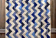 quilts blanc et bleu