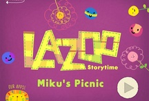 """miku's picnic"" app / https://itunes.apple.com/us/app/mikus-picnic/id652945863?mt=8 / by LAZOO"