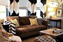 Living room decoration / Blinds & curtains