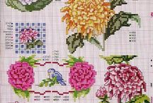 cross stitch chryzantema
