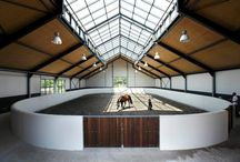 Indoor horse arena and stables