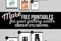 FREE printables / by Vickie
