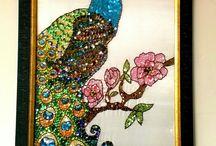 ev dekorasyon / tavus kuşu