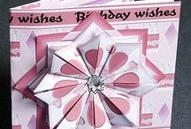 Origami + card / Flat origami on a card