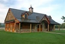 Barns/Stables and Metal Roofing / Barns and stables with metal roofing, from corrugated to standing seam. / by Swenson Shear